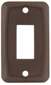 Single Switch Plate in Brown