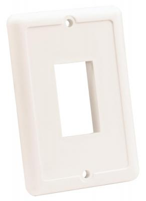 JR Products 12855 Black Single Switch Face Plate