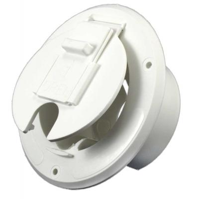 S-23-14-A Jr Products Colonial White Economy Round Electric Cable Hatch